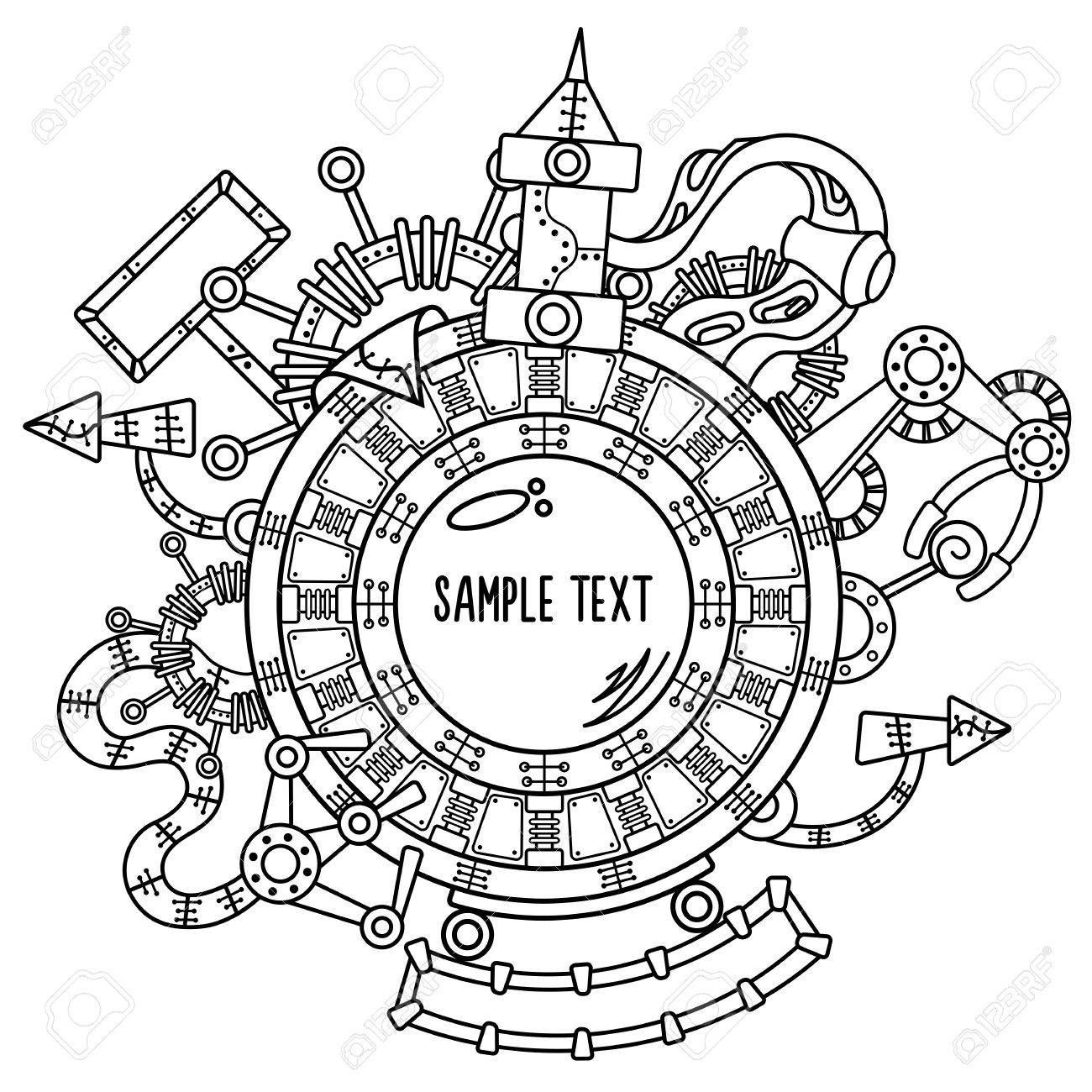 1300x1300 Royalty Free Steampunk Clip Art, Vector Images Illustrations