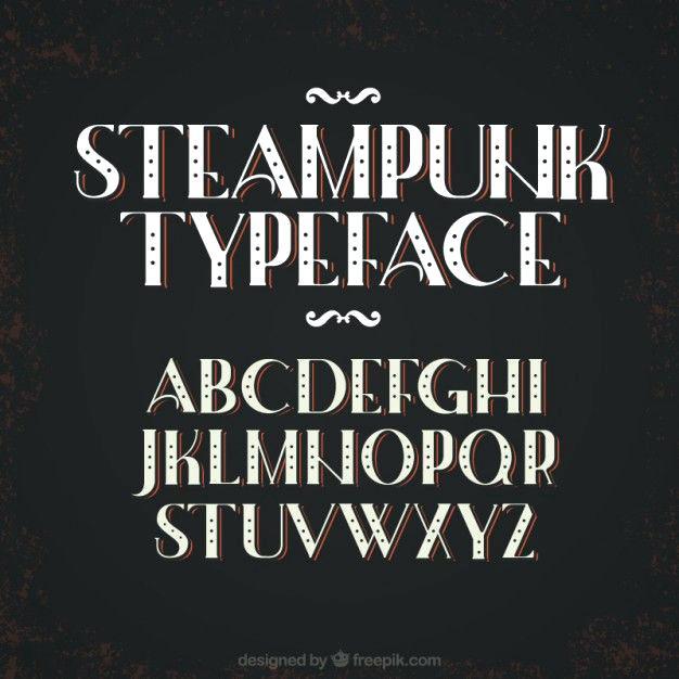 626x626 Steampunk Font Free Vector Generator Procommunication
