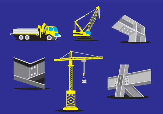 632x443 Steel Beam Construction Vector Free Vector Download 349619 Cannypic
