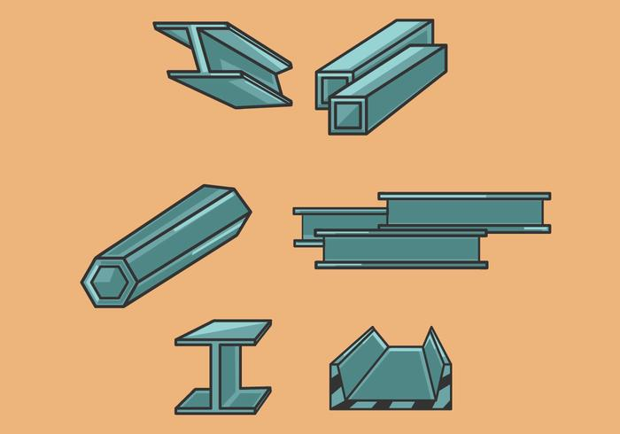 700x490 Steel Beam Illustration Vector