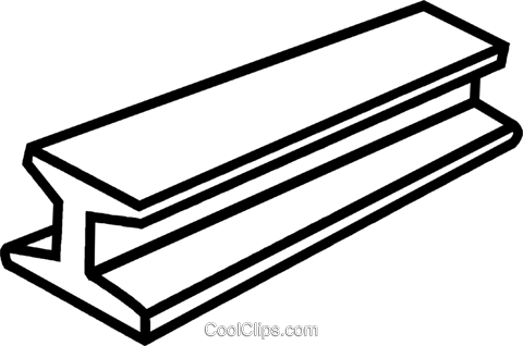480x318 Steel Beam Royalty Free Vector Clip Art Illustration Vc041641