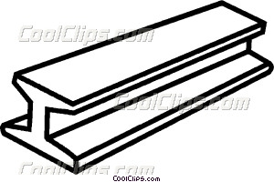 300x200 Steel Beam Vector Clip Art