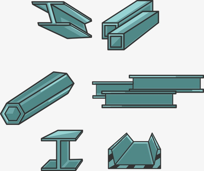 650x546 Vector Illustration Steel Beam, Steel Beams, Material, Vector Png