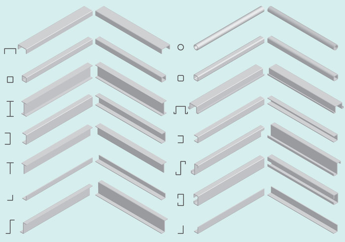 700x490 Free Vector Isometric Steel Beam Vectors