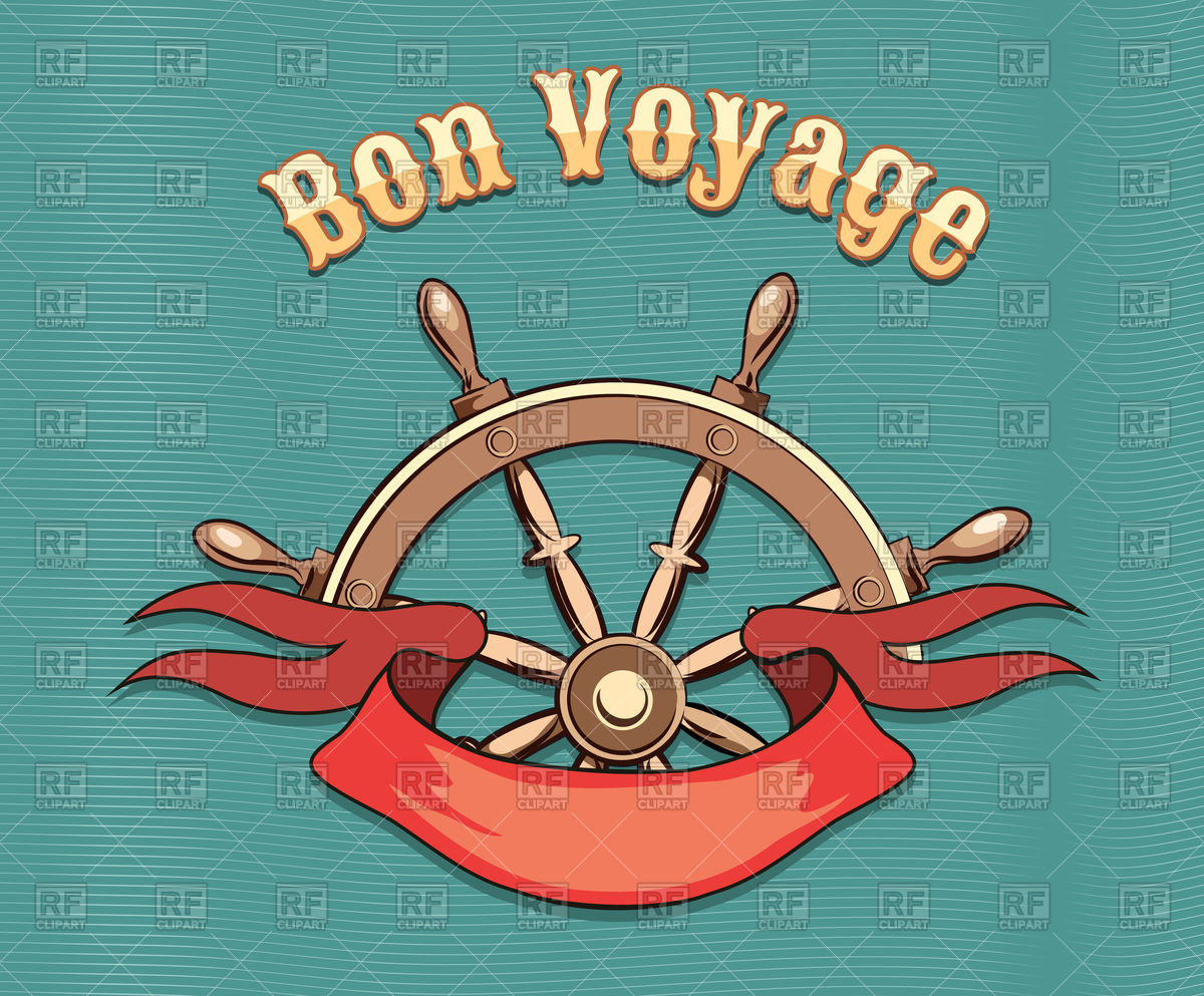 1200x993 Nautical Steering Wheel And Red Ribbon With Lettering Bon Voyage