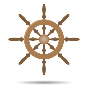 300x300 Ship Steering Wheel Royalty Free Vectors