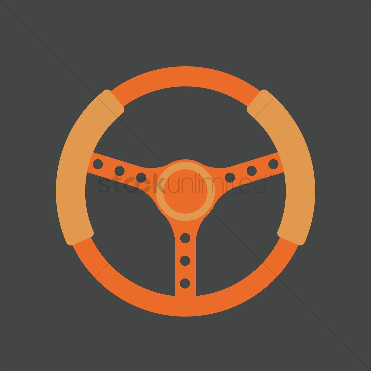 1300x1300 Steering Wheel Vector Image