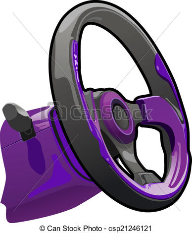 388x470 Vector Illustration Of A Steering Wheel. Simple Gradients Only
