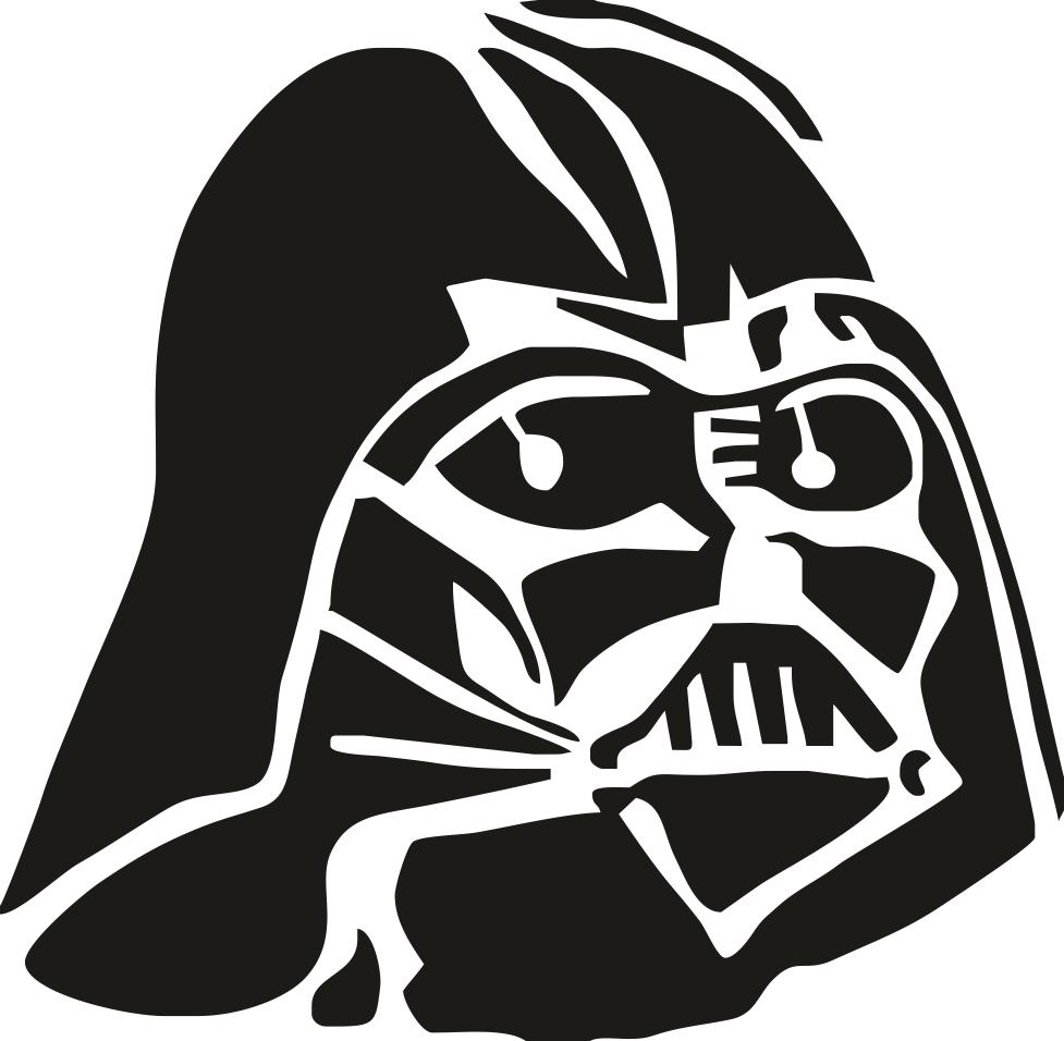 977x956 Darth Vader Stencil Vector Free Vector Download