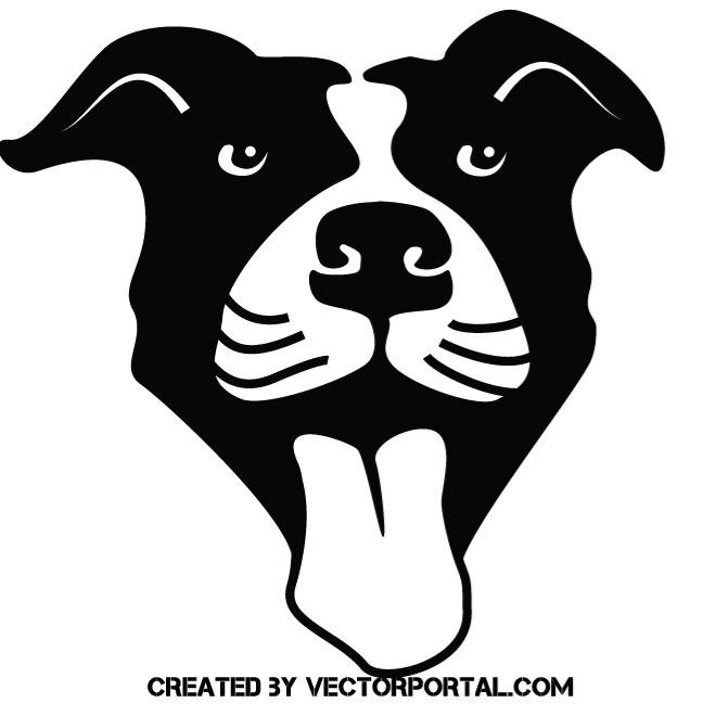 660x660 Dog Vector Stencil Art