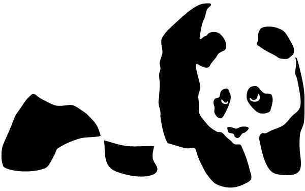 600x375 Free Vector Panda Bear Stencil Psd Files, Vectors Amp Graphics
