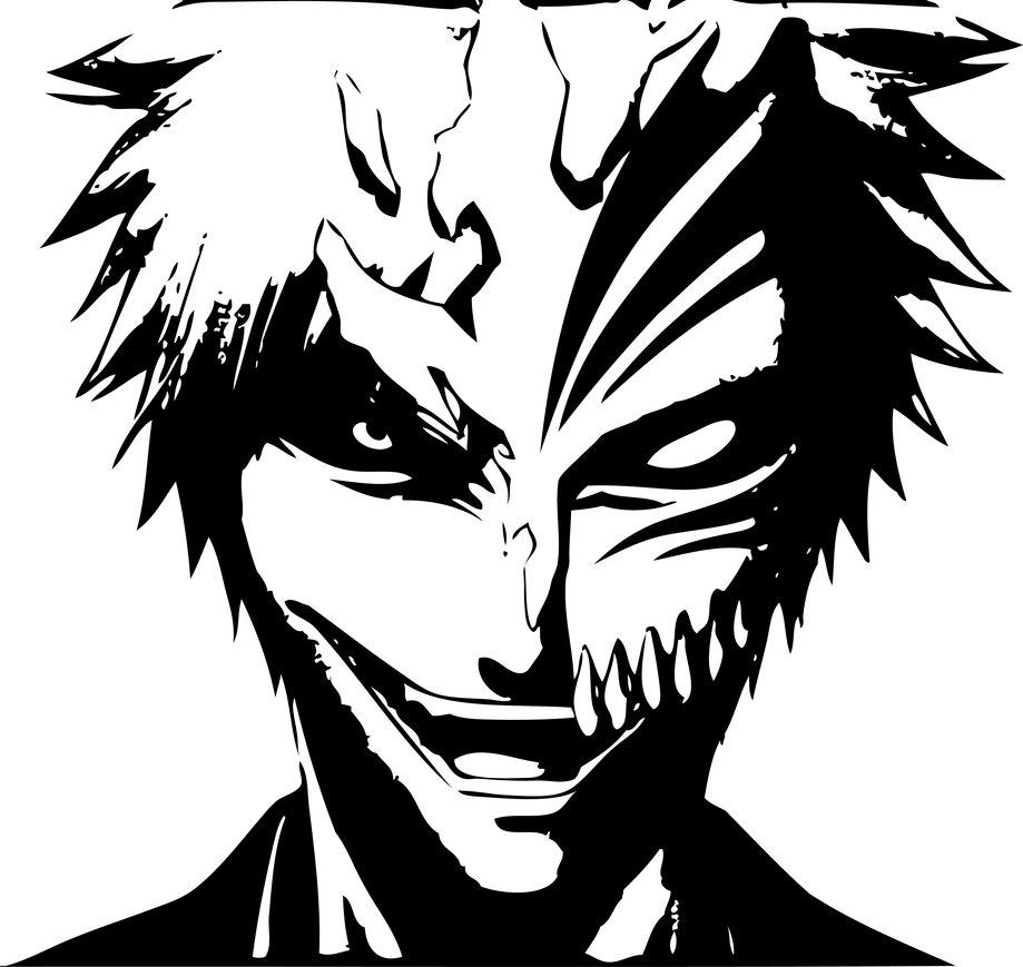 919x869 Ichigo Hollow Stencil Vector Art By Sartauzumaki