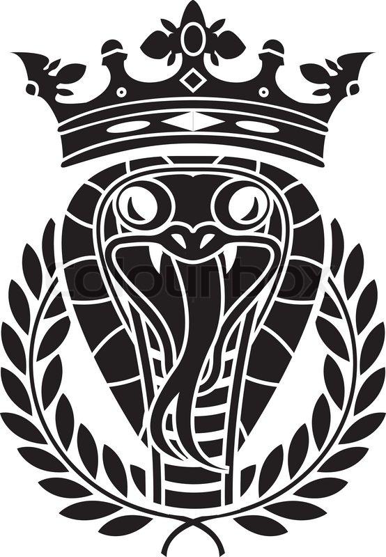 554x800 King Of Snakes. Stencil. Vector Illustration Stock Vector