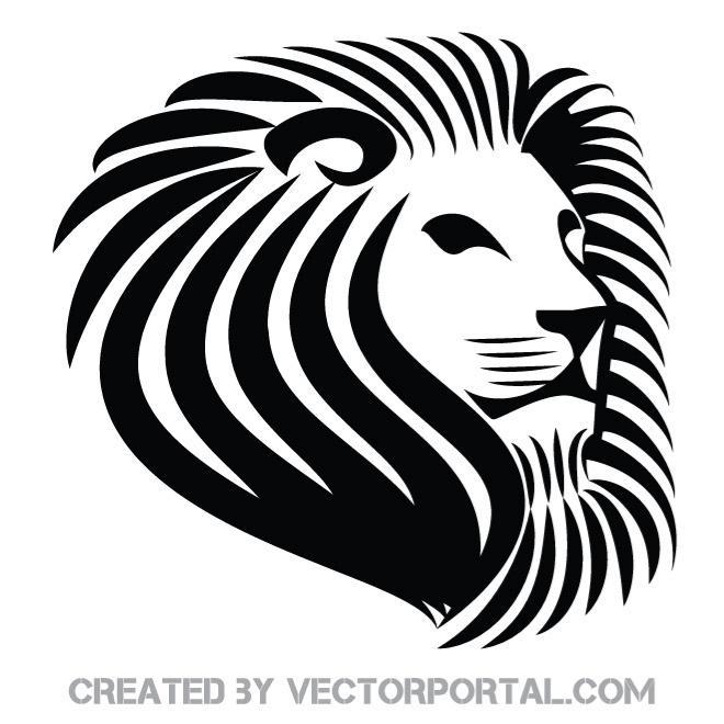 660x660 Lion Stencil Vector Art