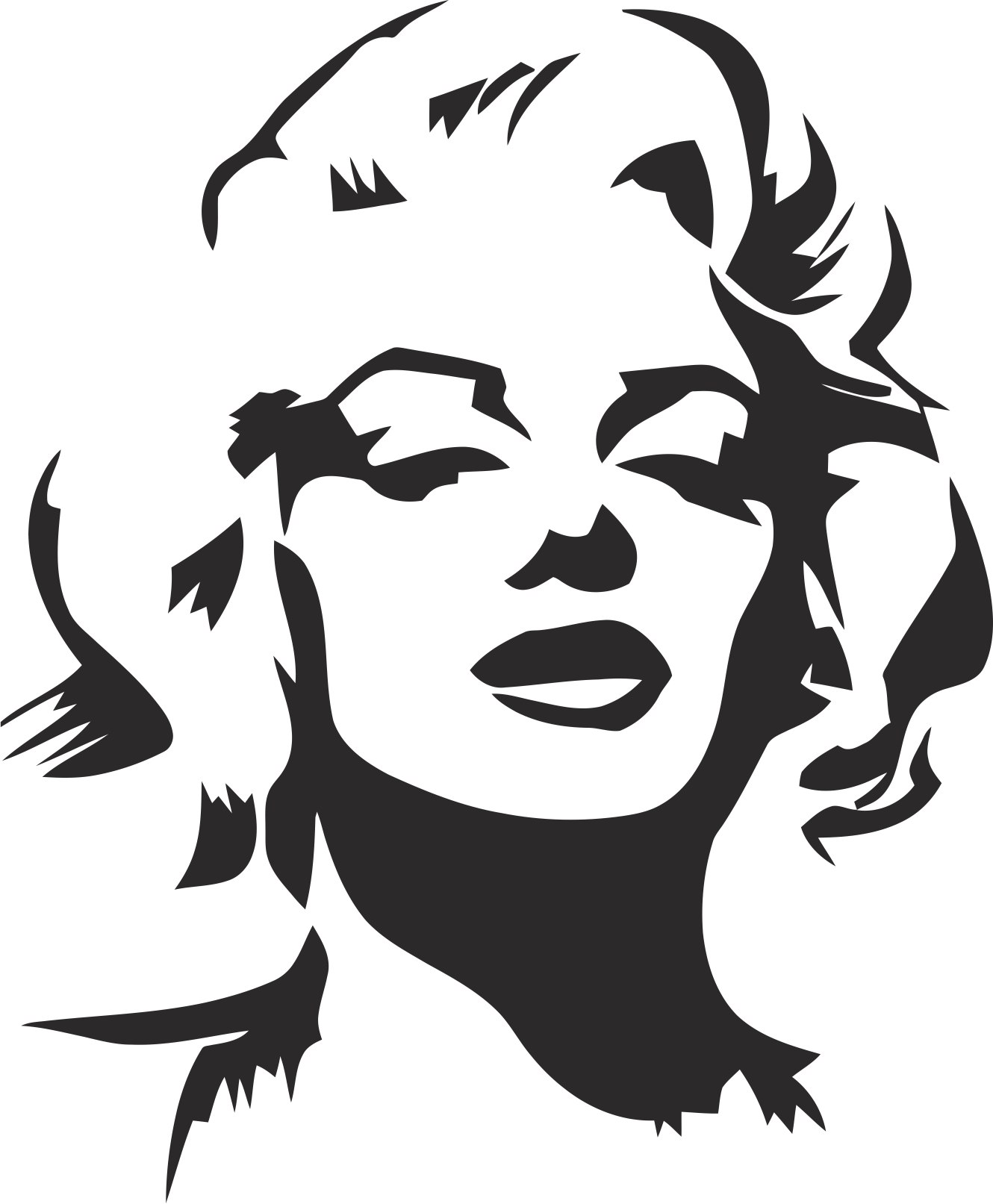 1330x1613 Marilyn Monroe Stencil Vector Free Vector Download
