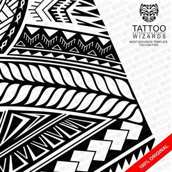 600x600 Samoan Turtle Shield Vector Tattoo Template Stencil