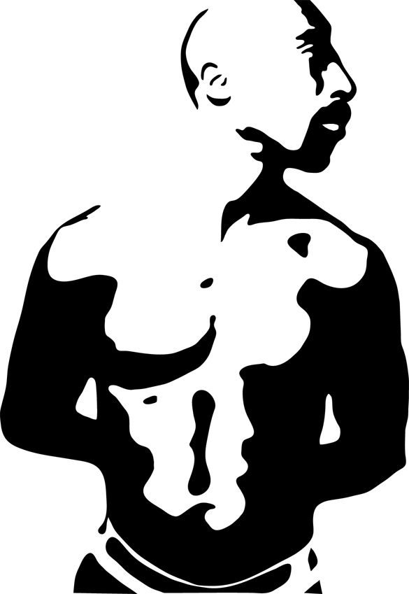 585x849 Tupac Stencil Vector Plain By Antoshea Svgcuts