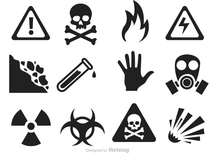 700x490 Danger And Warning Icon Vectors