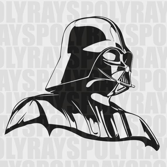 570x570 Darth Vader Svg Star Wars Stencil Instant Download Eps Etsy