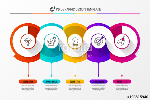 500x334 Infographic Design Template With 5 Steps. Vector Stock Image And