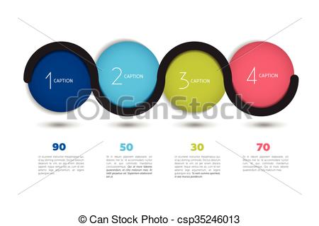 450x319 Infographic Option Banner With 4 Steps. Color Spheres, Balls