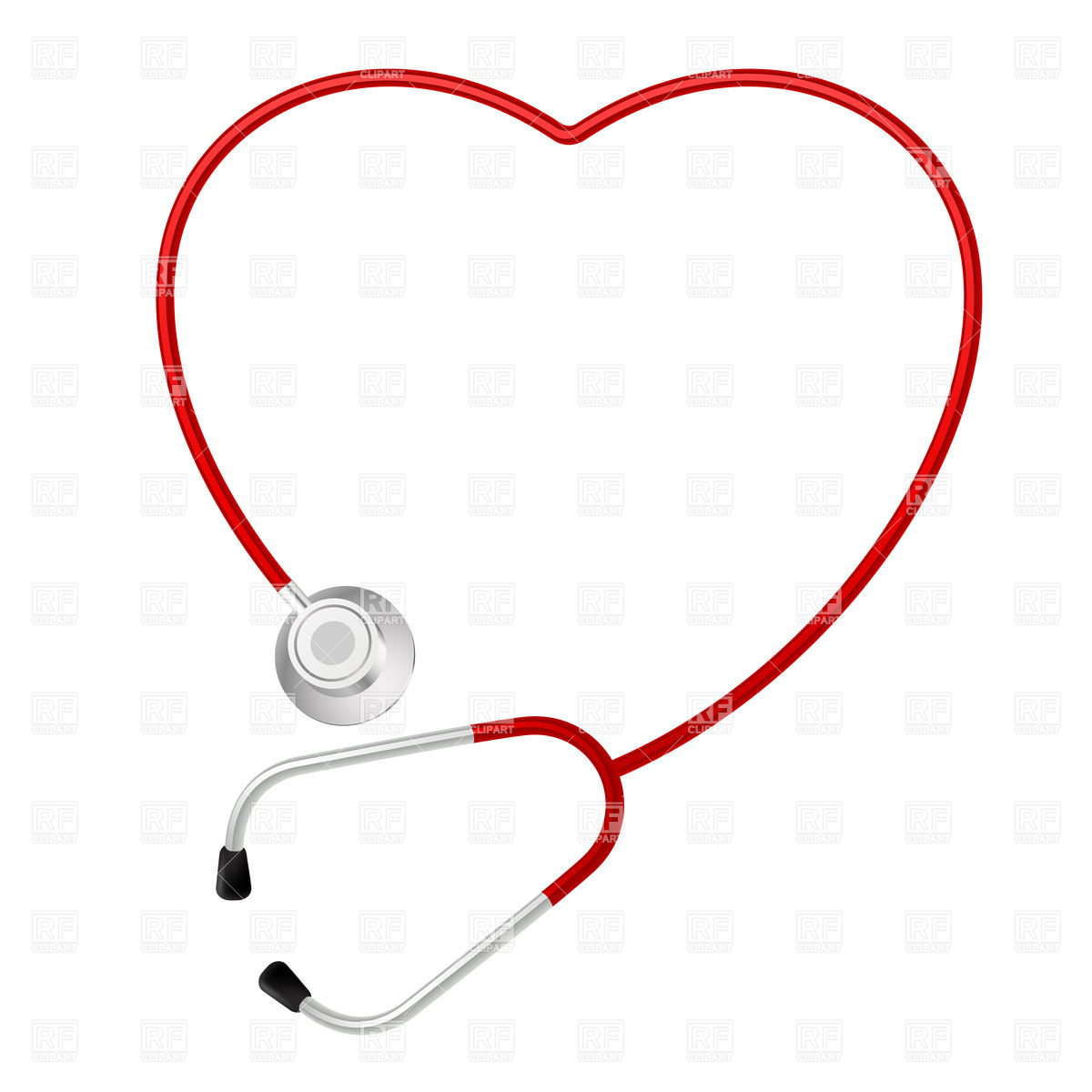 1200x1200 Heart Shaped Stethoscope Vector Image Vector Artwork Of