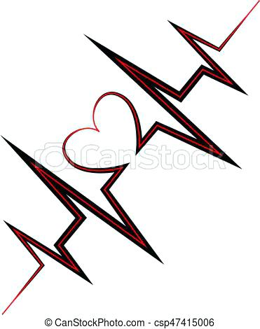 371x470 Heartbeat Vector Life Line Symbol Heart Gray Icon With Sign