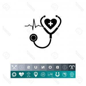 300x300 Photostock Vector Monochrome Vector Icon Of Human Heart