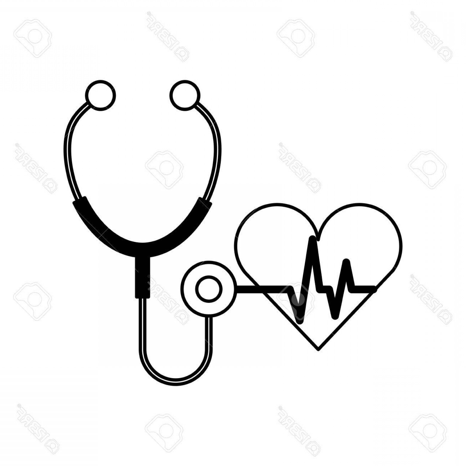 1560x1560 Photostock Vector Stethoscope Medical With Heart Vector