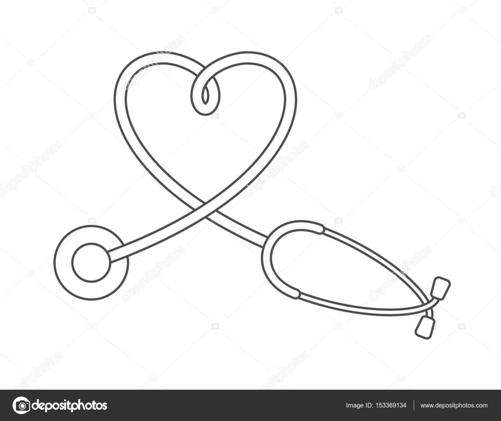 1024x860 Collection Of Stethoscope Drawing Heart High Quality, Free