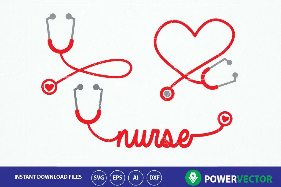 946x630 Stethoscope Svg, Nurse Word Art Svg. Nurse Heart Monogram Frame