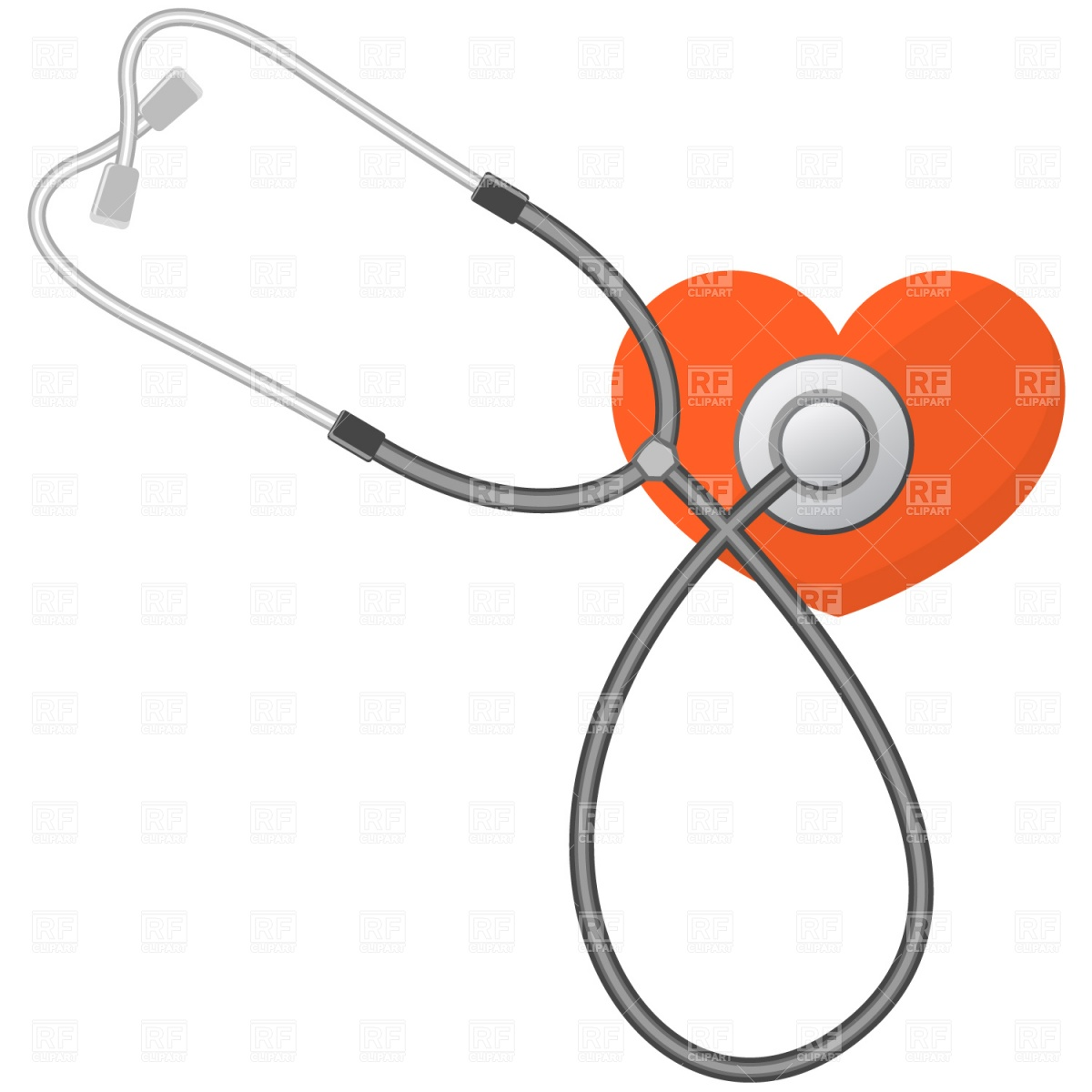 1200x1200 Stethoscope And Heart Vector Image Vector Artwork Of Healthcare