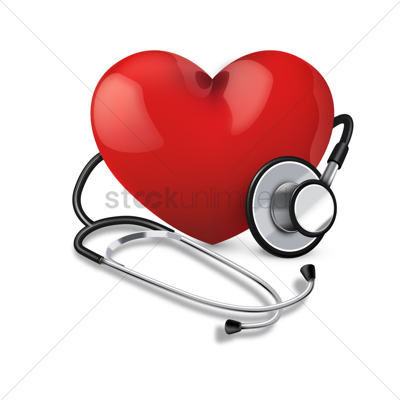 1300x1300 Stethoscope With Heart Vector Image
