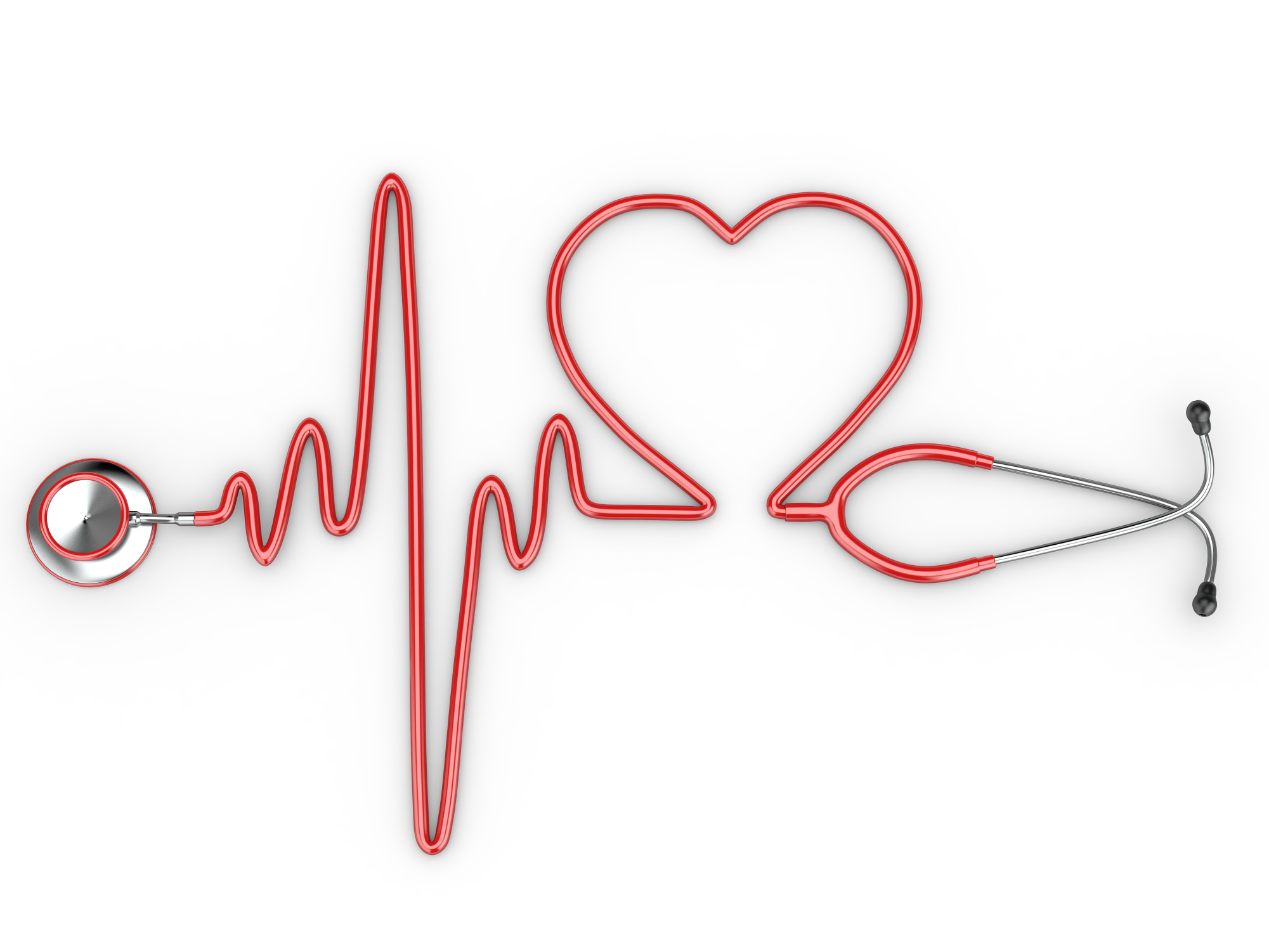 2001x1501 Vector Heart Stethoscope Png