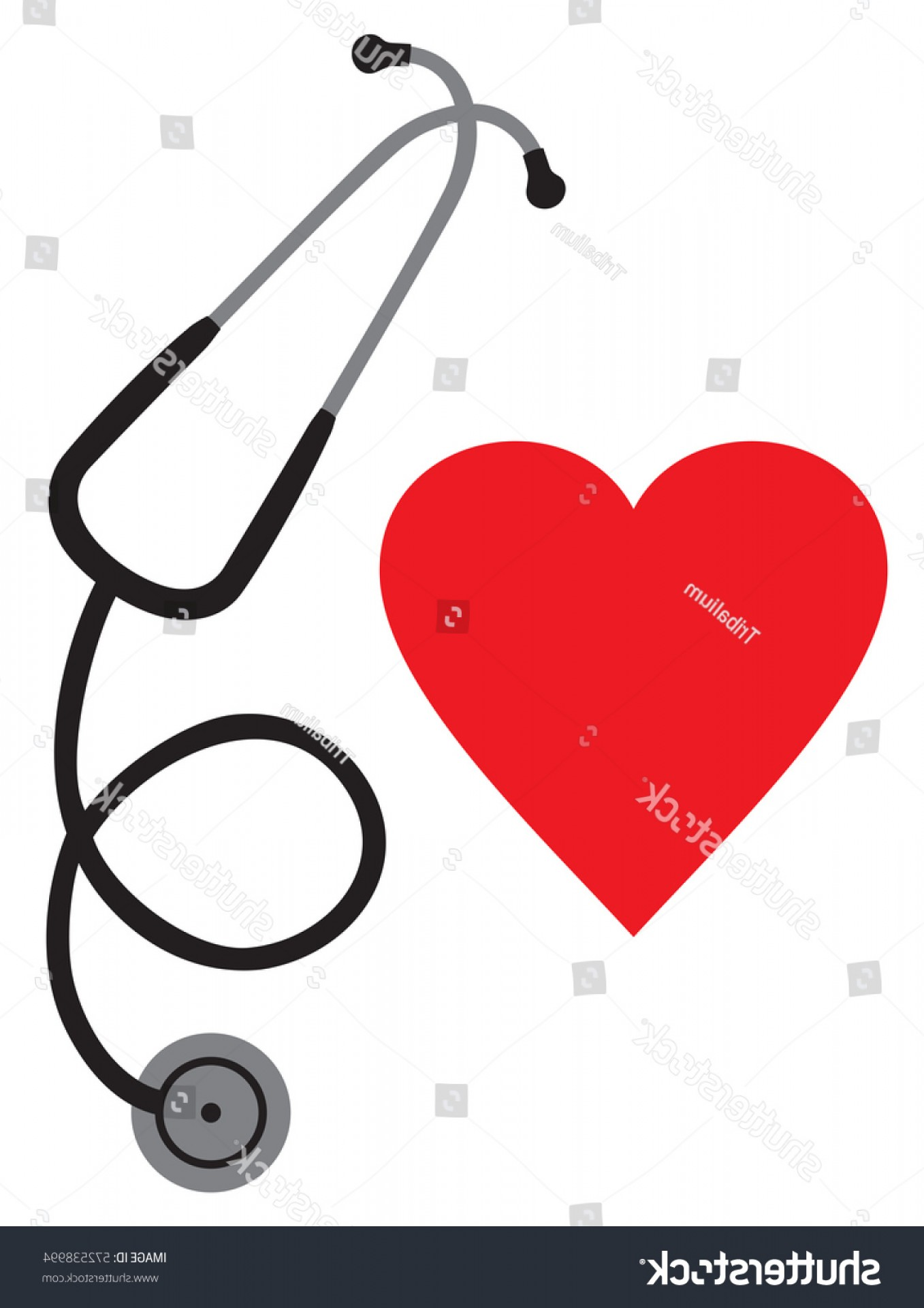 1357x1920 Doctors Stethoscope Heart Vector Icon Rongholland