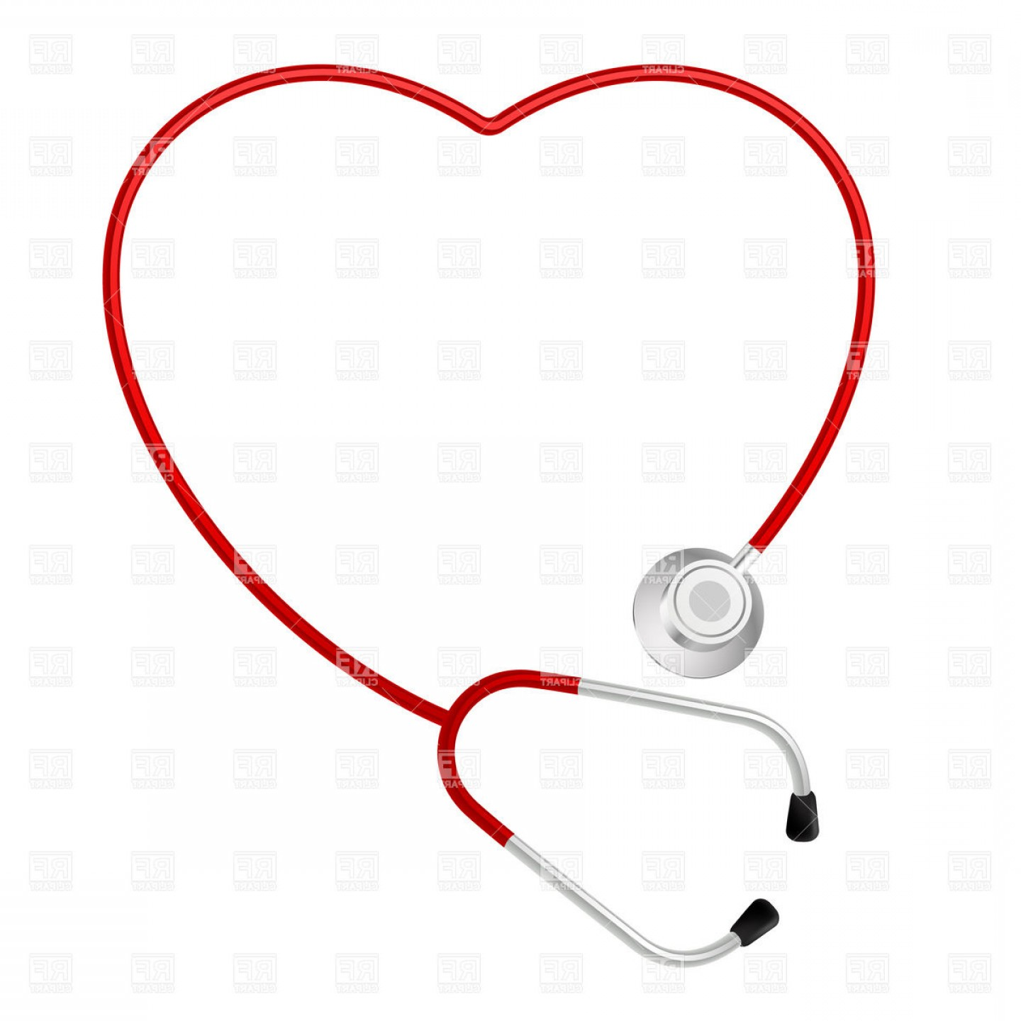 1440x1440 Heart Shaped Stethoscope Vector Clipart Createmepink