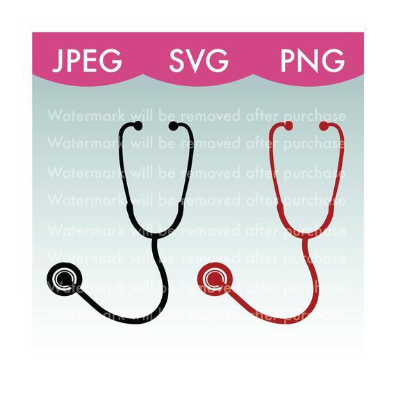 570x570 Stethoscope Vector Image Svg Png Jpeg Nurse Doctor Etsy