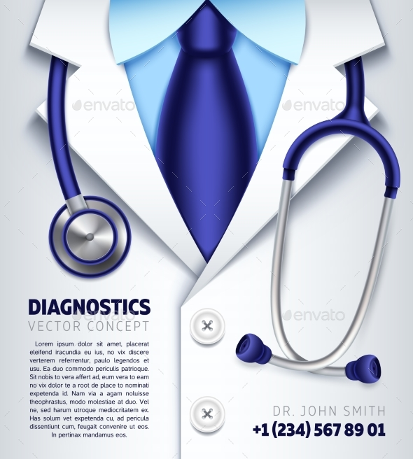 590x656 Doctor Stethoscope Vector Background Medical By Microvone