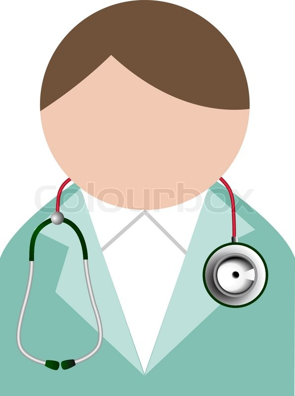 597x800 Doctor With Stethoscope. Buddy Icon. Stock Vector Colourbox