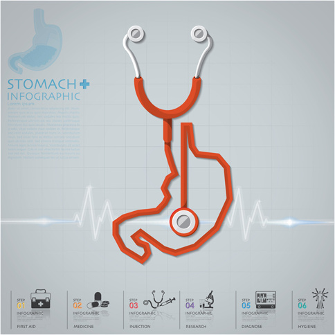 484x484 Health And Medical Infographic With Stethoscope Vector Free Vector