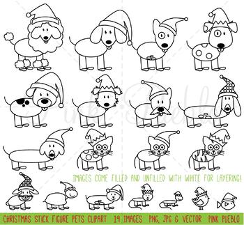 350x323 Christmas Stick Figure Pets Clipart Clip Art Vectors, Christmas