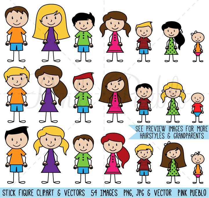 721x684 Stick Figure Family Clipart Amp Vector Pinkpueblo