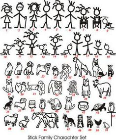 236x283 Stick Figure Family High Quality Decals In 2018 Mummum