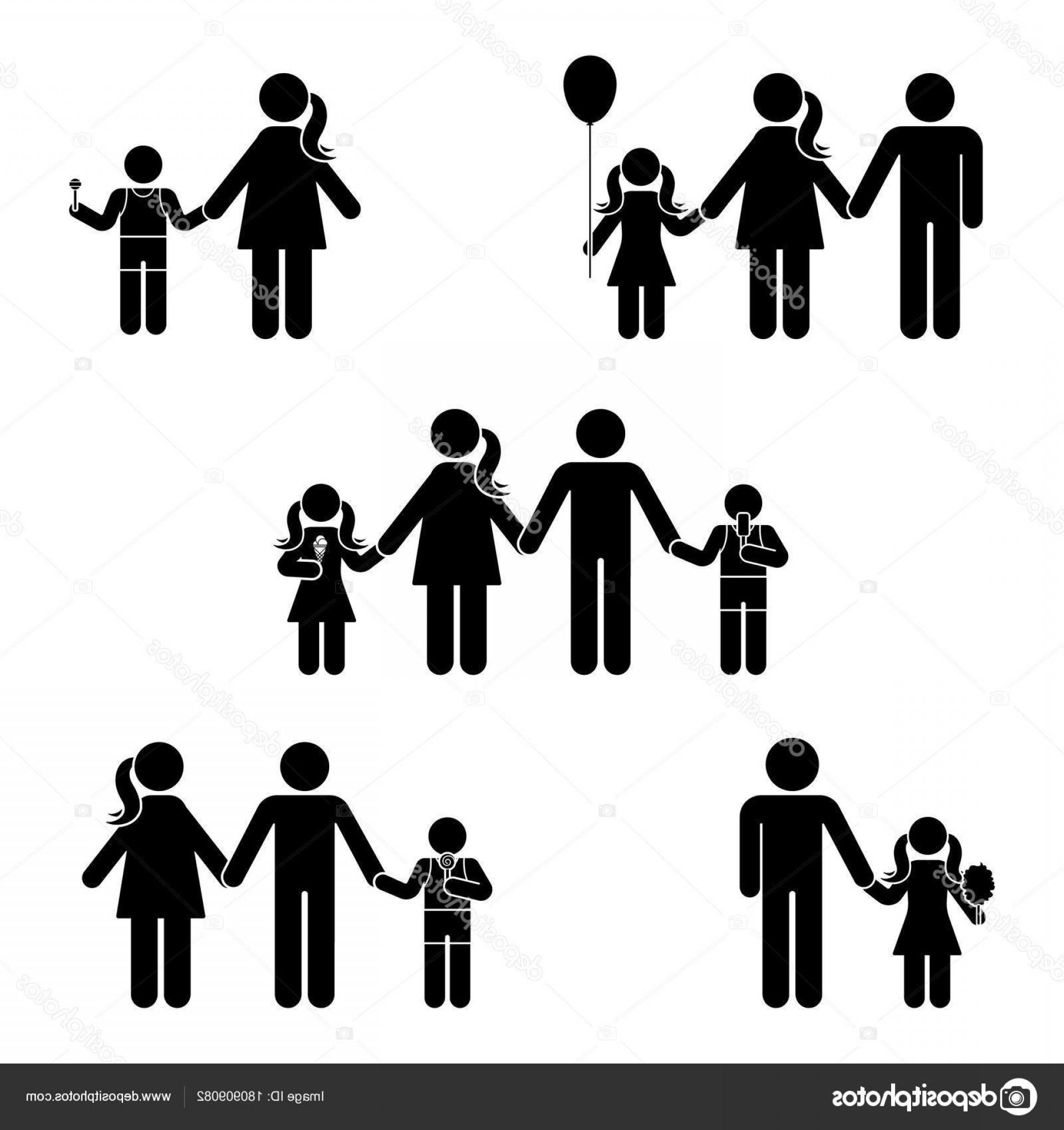 1920x2040 Stock Illustration Stick Figure Family Icon Set Orangiausa