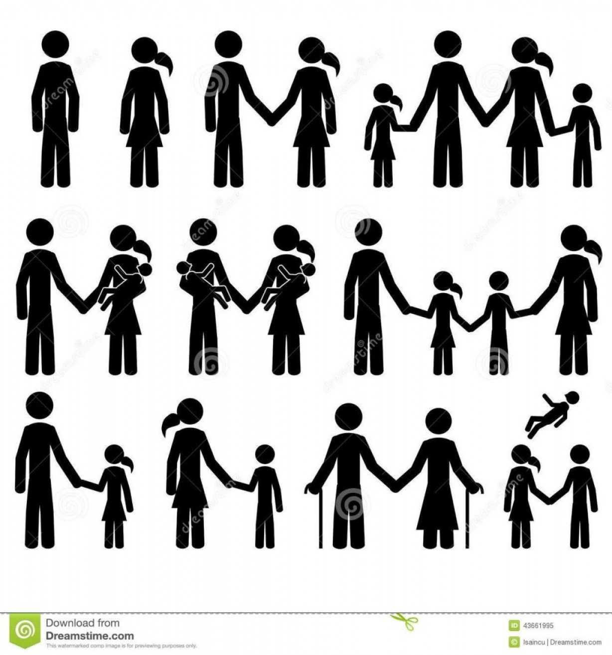 1228x1314 Top People Man Woman Couple Family Old Stick Figure Vector Eps