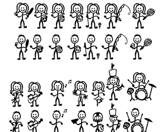 340x270 Vector Stick People Desktop Backgrounds