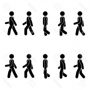 300x300 Photostock Vector Man People Various Walking Position Posture