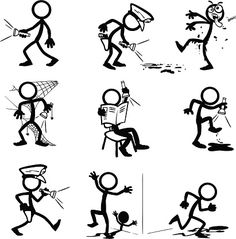 236x239 Stickfigure Doing Fitness Related Activities. Me