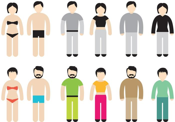 700x490 Colorful Stick Figure Vectors