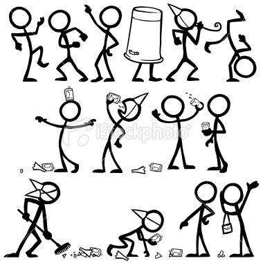 380x380 Free Vector Stick Figures Stickfigures Having A Party Like All